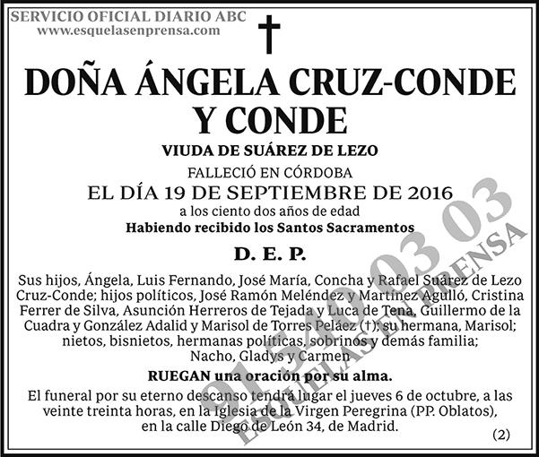 Ángela Cruz-Conde y Conde